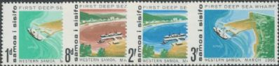 Samoa SG265-8 Opening of First Deep Sea Wharf, Apia set of 4